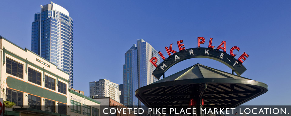Coveted Pike Place Market Location