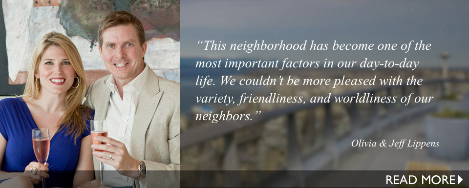 This neighborhood has become one of the most important factors in our day-to-day life. We couldn't be more pleased with the variety, friendliness, and worldliness of our neighbors.